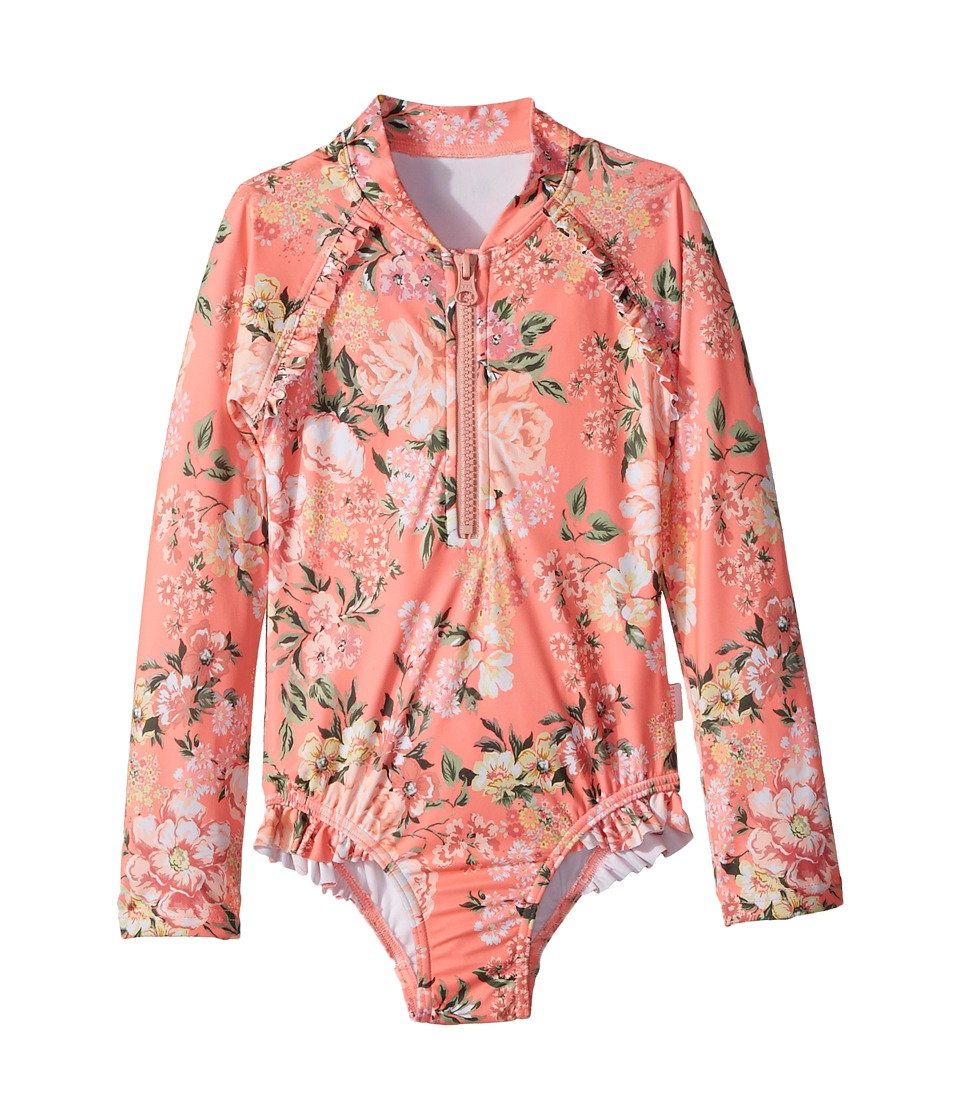 Seafolly Kids Forget Me Not Long Sleeve Surf Tank One-Piece (Infant/Toddler/Little Kids) (Blossom Pink) Girl