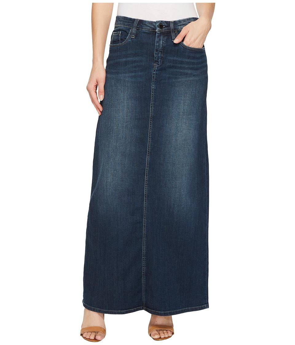 Blank NYC Long Denim Skirt in Masterbathe (Masterbathe) Women