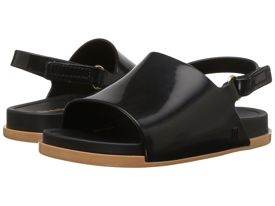 Mini Melissa Mini Beach Slide Sandal (Toddler/Little Kid) (Black/Beige) Girls Shoes