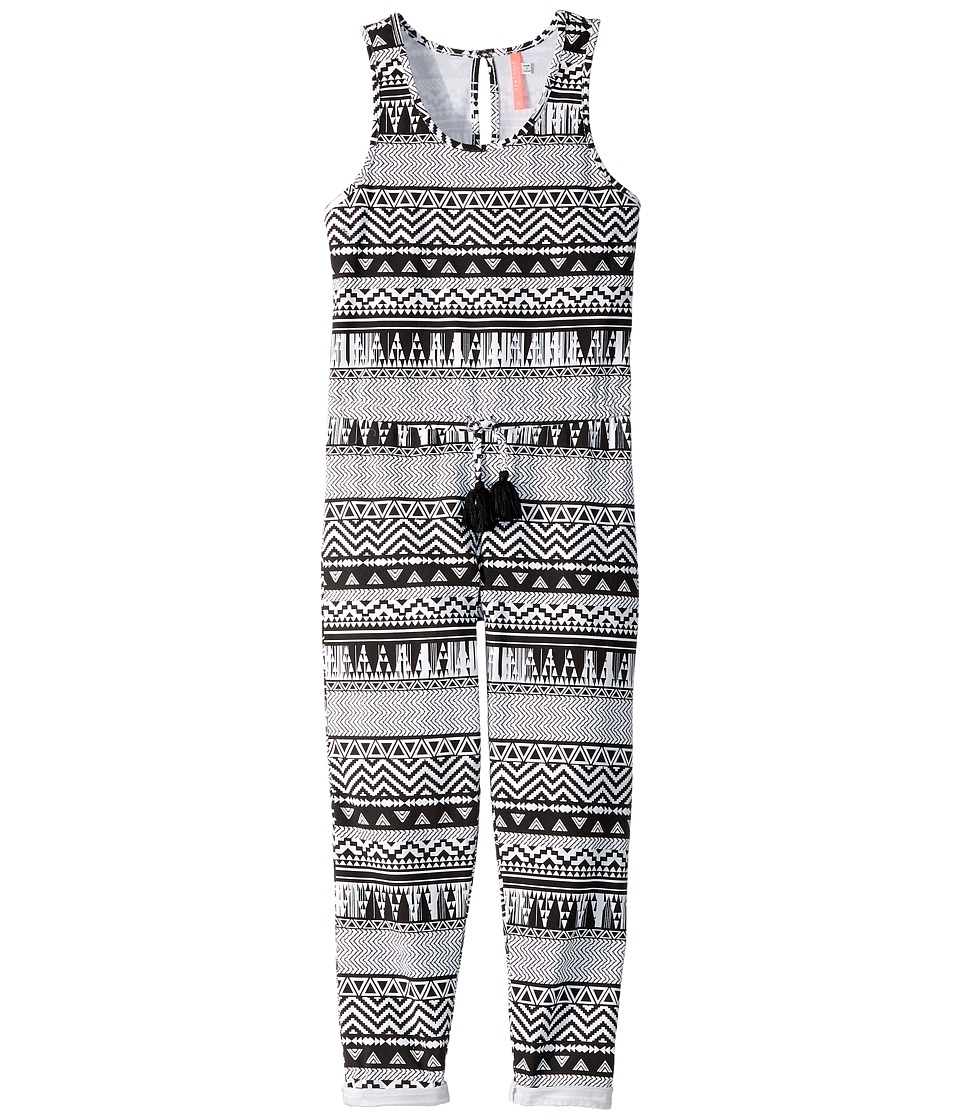 Seafolly Kids Jungle Geo Jumpsuit Cover-Up (Big Kids) (Black/White) Girl