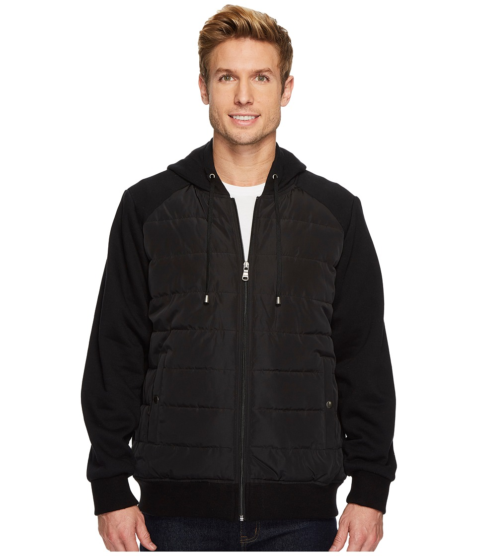 CHAPS - Mix Media Hoodie w/ Insulated Seams (Black) Men's Sweatshirt