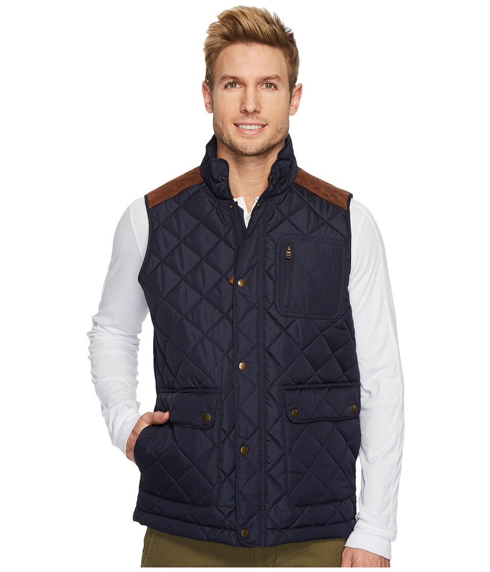 CHAPS - Three-Pocket Quilted Vest (Navy) Men's Vest