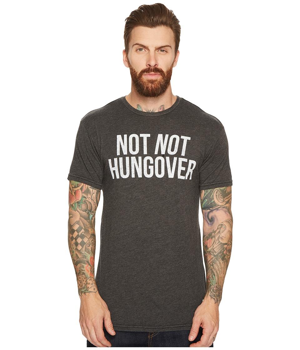 The Original Retro Brand - Not Not Hungover Short Sleeve Heathered T-Shirt (Heather Black) Men's T Shirt
