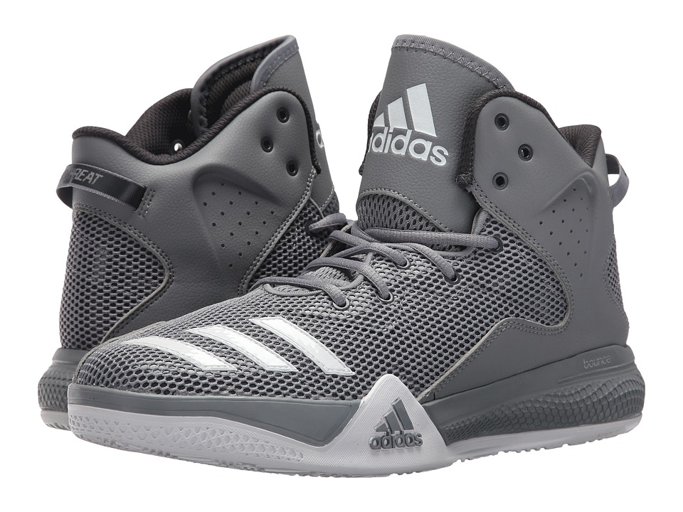 adidas - DT BBall Mid (Grey/White/Solid Grey) Men's Basketball Shoes