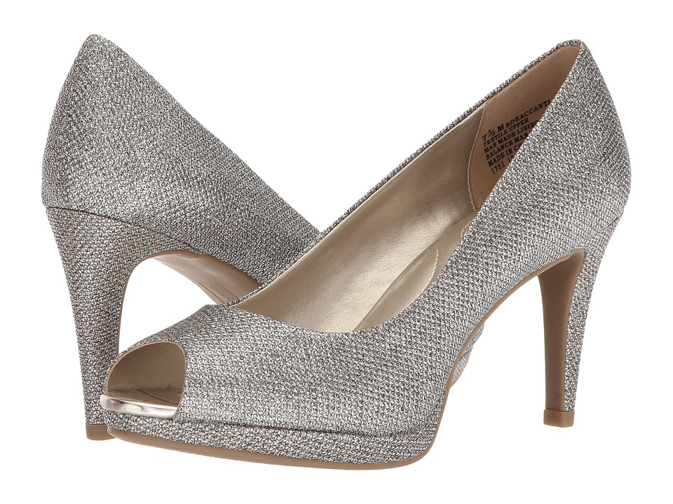 BCBGeneration Womens SASHA Open Toe Classic Pumps Silver Size 10.0 VyqK