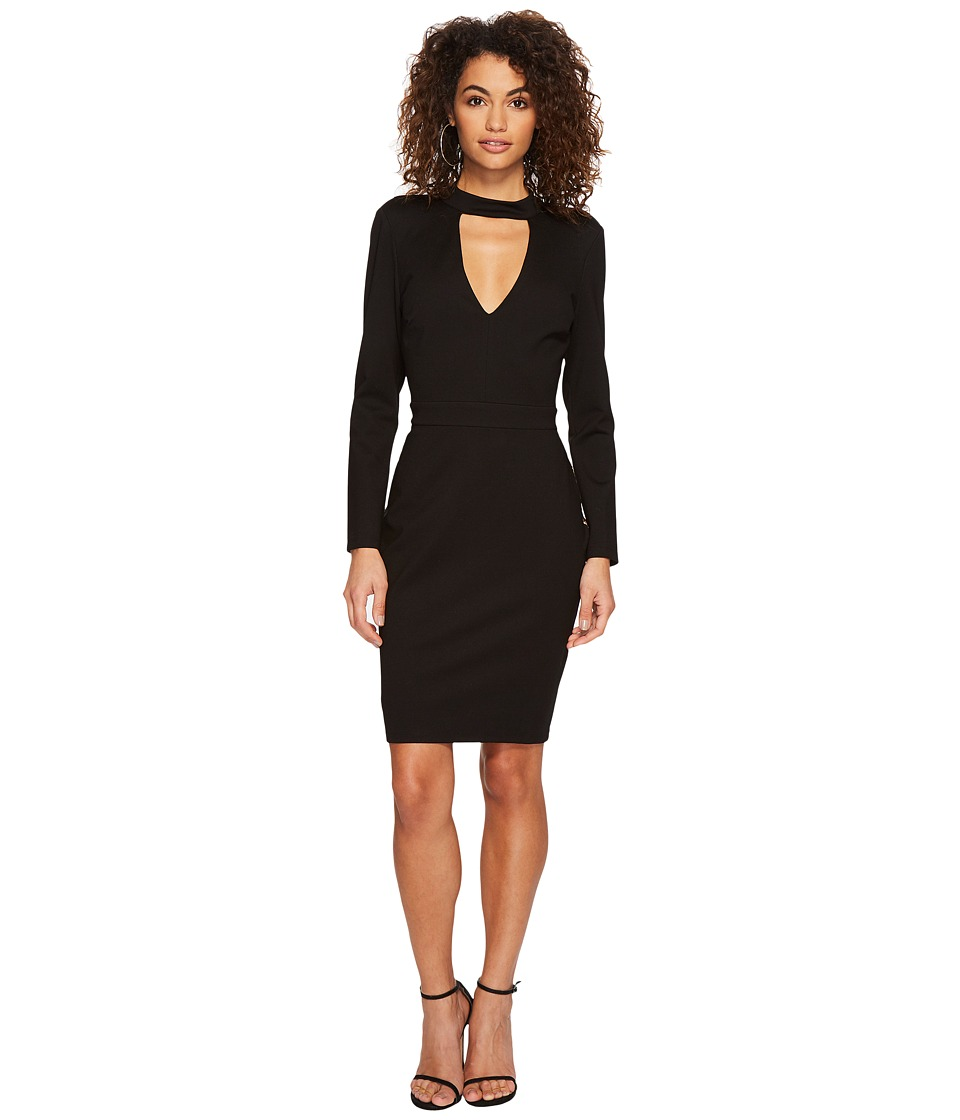 Adelyn Rae Laila Bodycon Dress (Black/Nude) Women