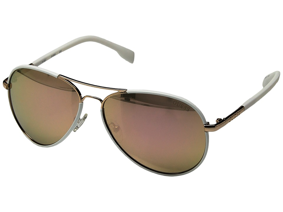 GUESS - GF0261 (Shiny Rose Gold/Brown Mirror) Fashion Sunglasses