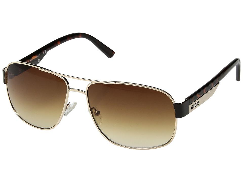 GUESS - GU0122F (Brown/Gold) Fashion Sunglasses