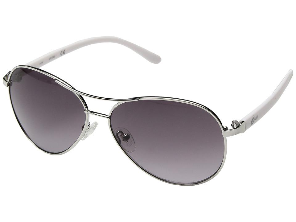 GUESS - GU0235F (White/Blue Mirror) Fashion Sunglasses