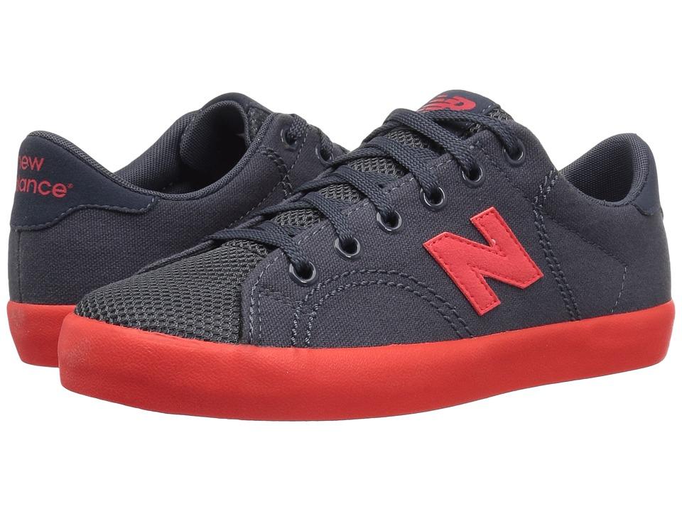 New Balance Kids KLCRTv1Y (Little Kid/Big Kid) (Grey/Red) Boys Shoes