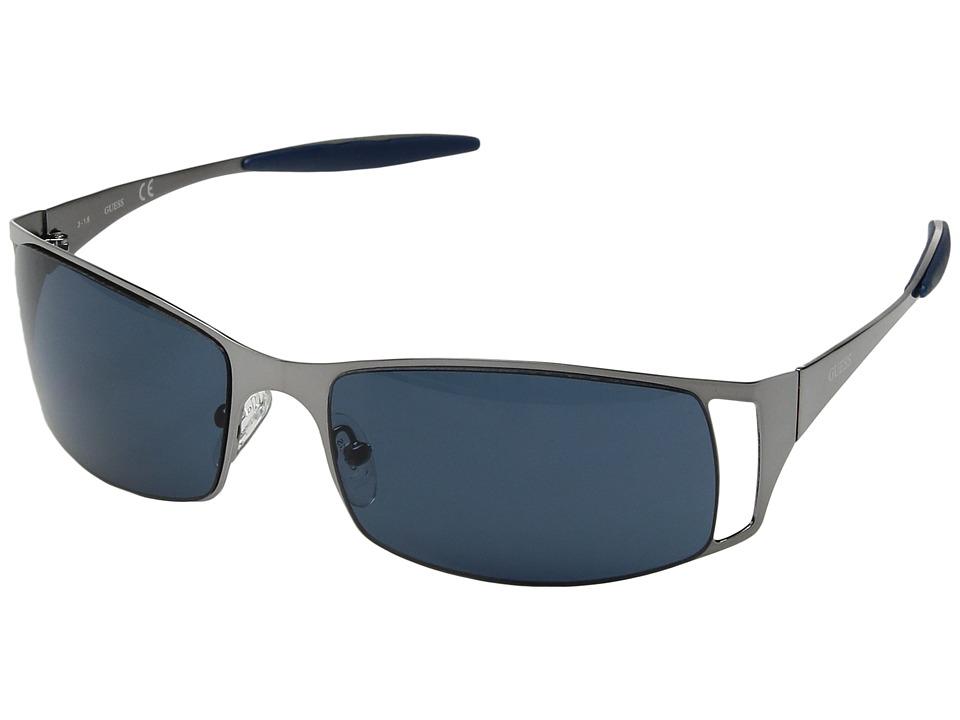GUESS - GU6248 (Gunmetal/Blue Lens) Fashion Sunglasses