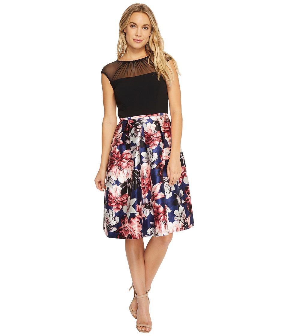 Sangria Cap Sleeve Party Dress (Multi) Women