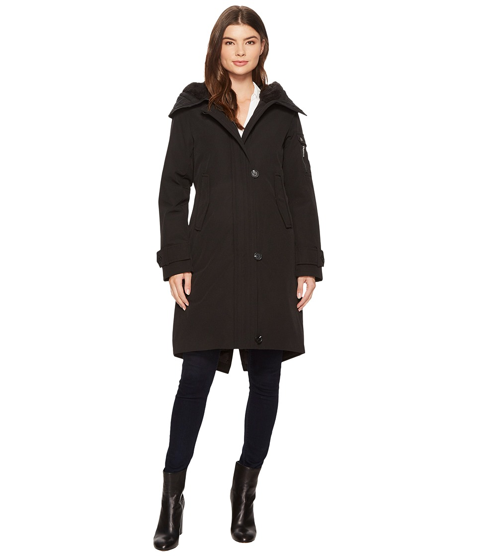 French Connection - Heavy Duty Snorkel Parka (Black) Women's Coat