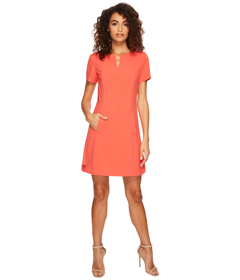 Tahari by ASL - Shift Dress with Pockets (Coral Reef) Women's Dress
