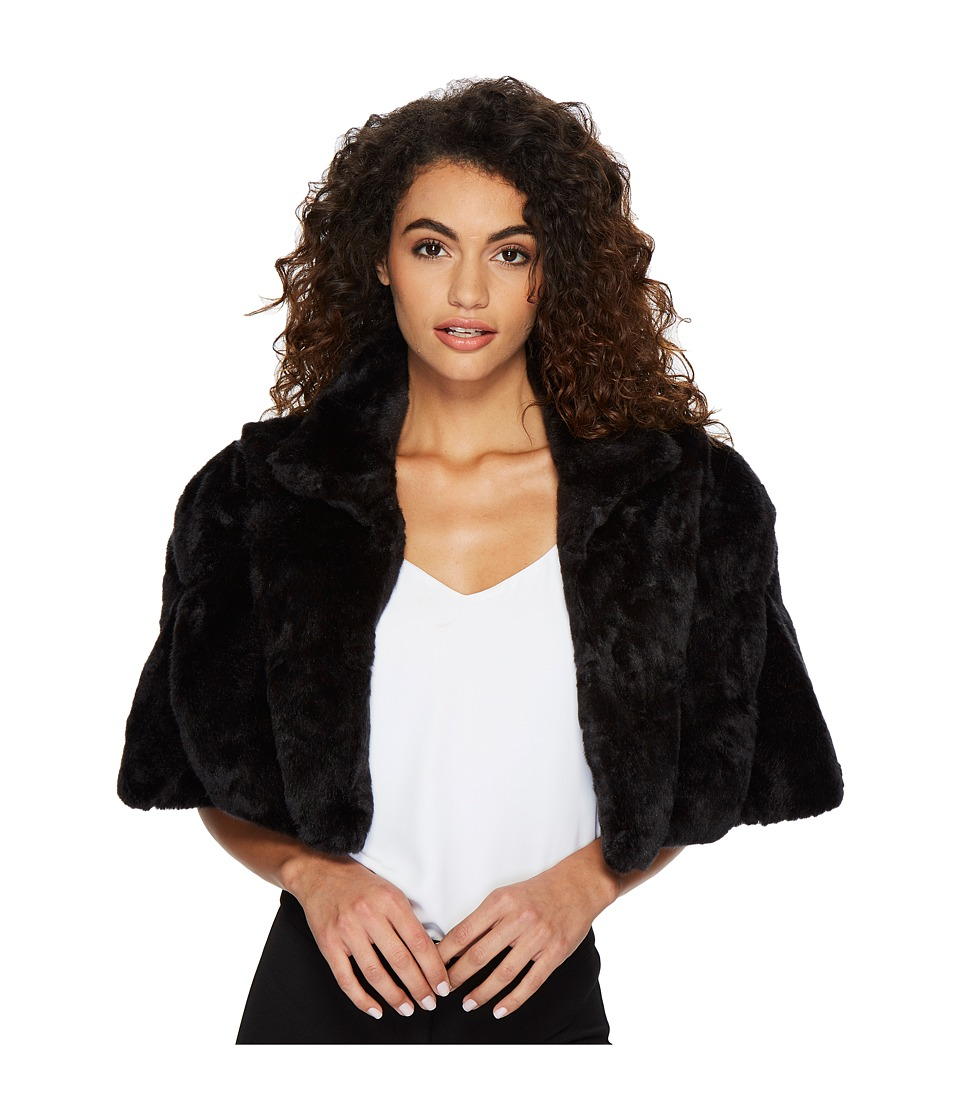 Tahari by ASL - Faux Fur Cape (Black) Women's Coat
