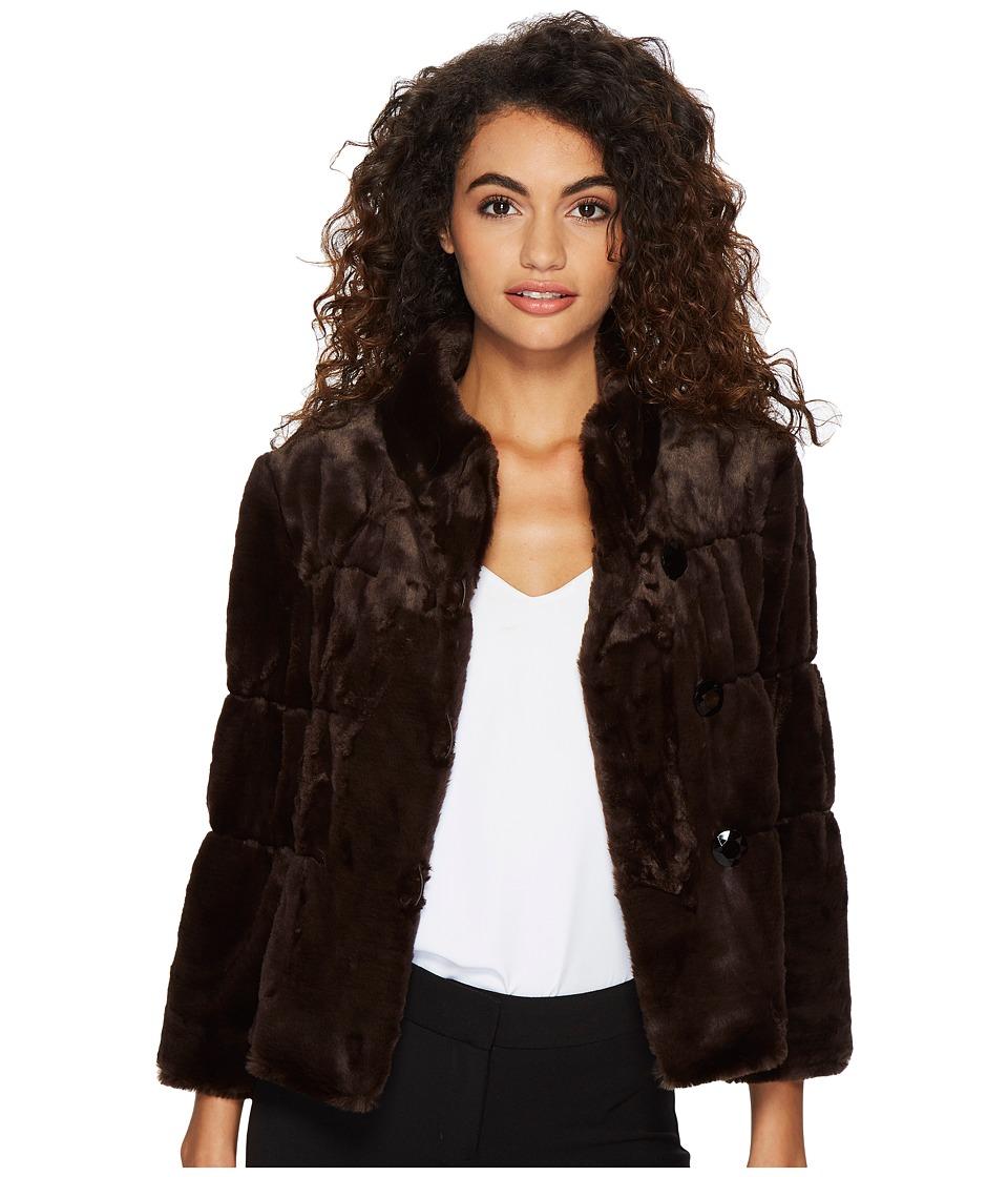 Tahari by ASL - Faux Fur Jacket (Sable Brown) Women's Coat