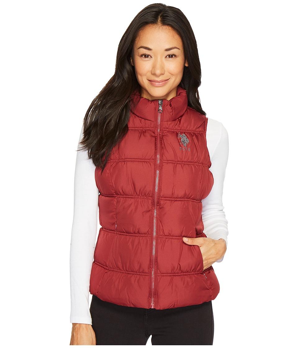 U.S. POLO ASSN. - Basic Puffer Vest (Rumba Red) Women's Vest