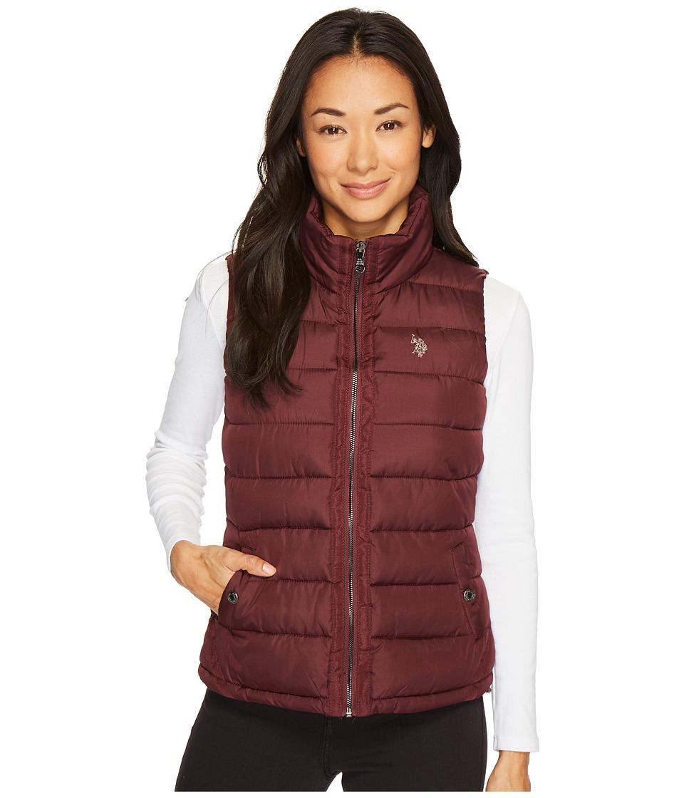 U.S. POLO ASSN. - Vest with Grosgrain Trim (Berry Park) Women's Vest