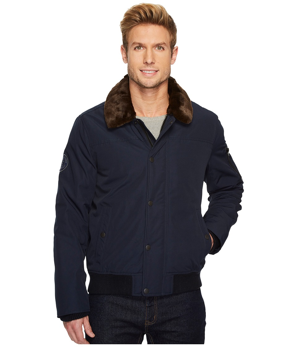Tommy Hilfiger - Midnight Taslan Officer Bomber Jacket (Navy) Men's Coat