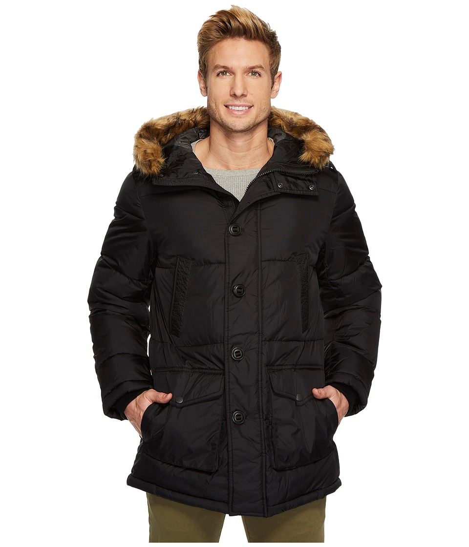 Tommy Hilfiger - Nylon Long Hooded Parka (Midnight) Men's Coat