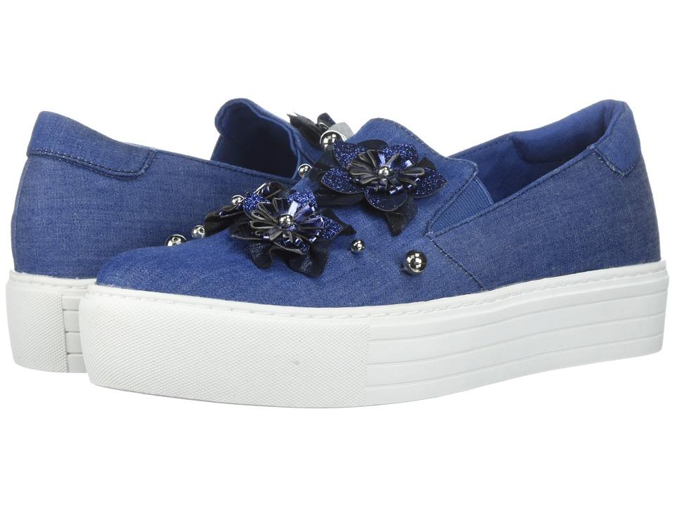 Kenneth Cole Reaction Cheer Floral (Blue Denim) Women