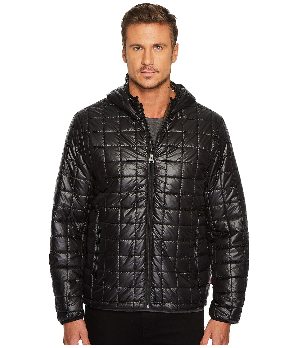 Levi's(r) - Nylon Box Quilted Hoodie (Black) Men's Coat