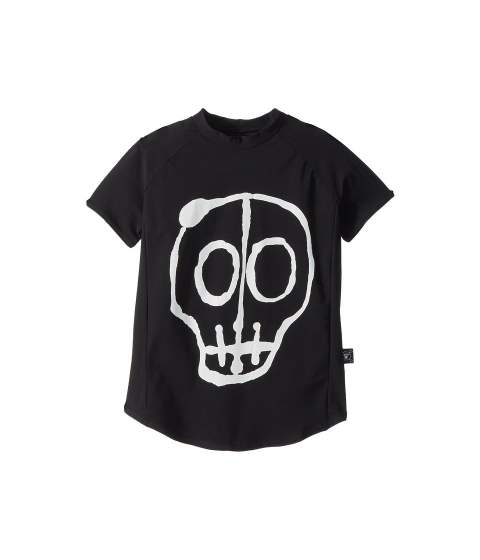Nununu Skull Mask Rashguard (Little Kids/Big Kids) (Black) Boy