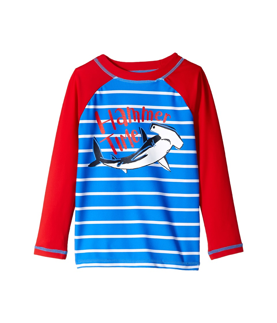 Hatley Kids Hammerhead Shark Long Sleeve Rashguard (Toddler/Little Kids/Big Kids) (Blue) Boy