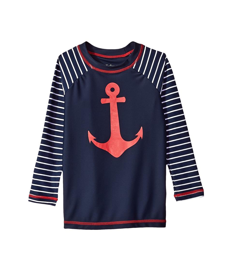 Hatley Kids Sea Anchors Long Sleeve Rashguard (Toddler/Little Kids/Big Kids) (Blue) Boy