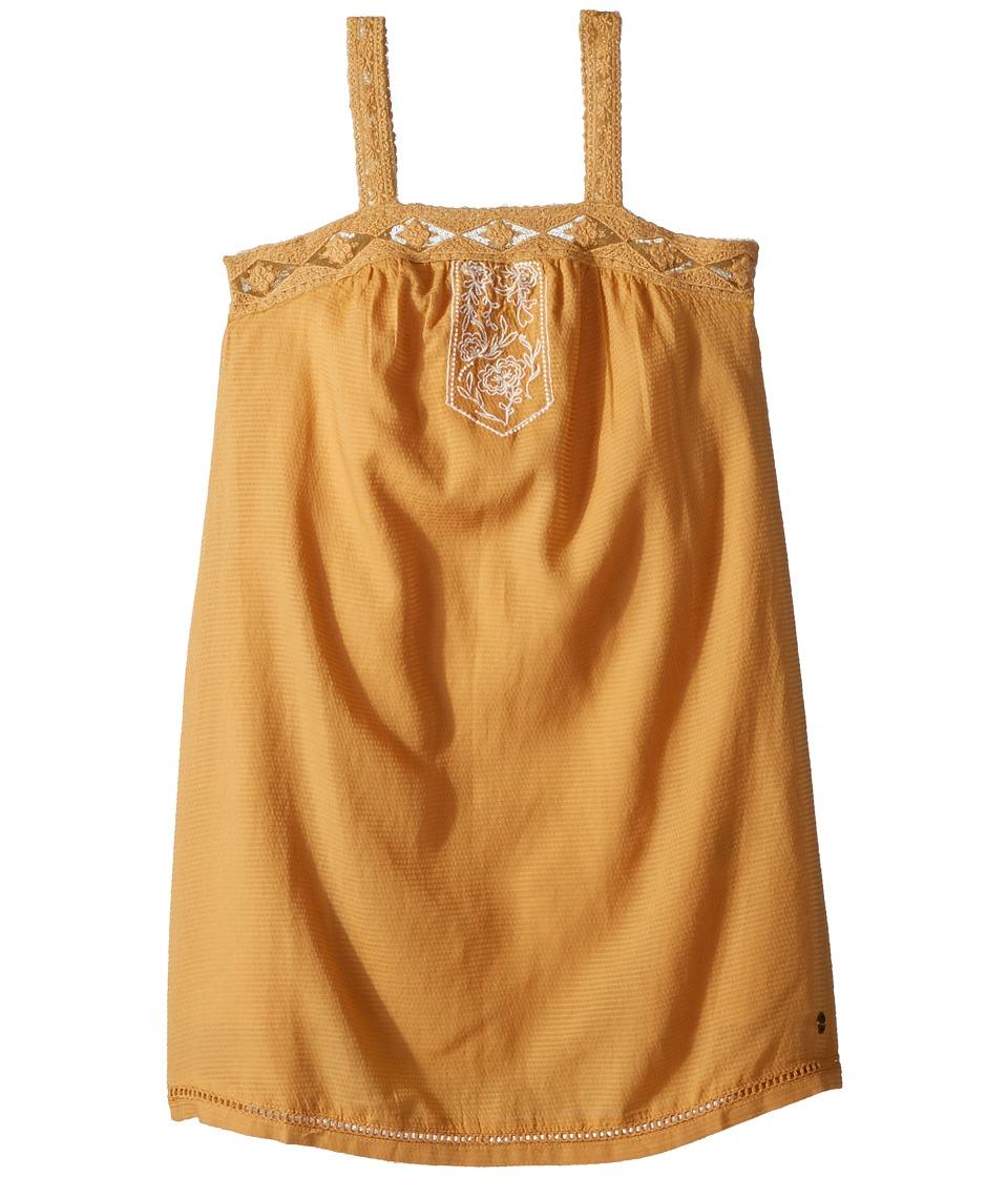Roxy Kids Miss Your Smile Dress (Big Kids) (Oak Buff) Girl
