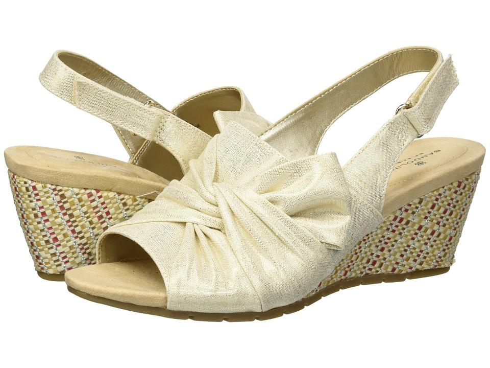Bandolino Gayla (Gold Metallic Coated Linen) Women