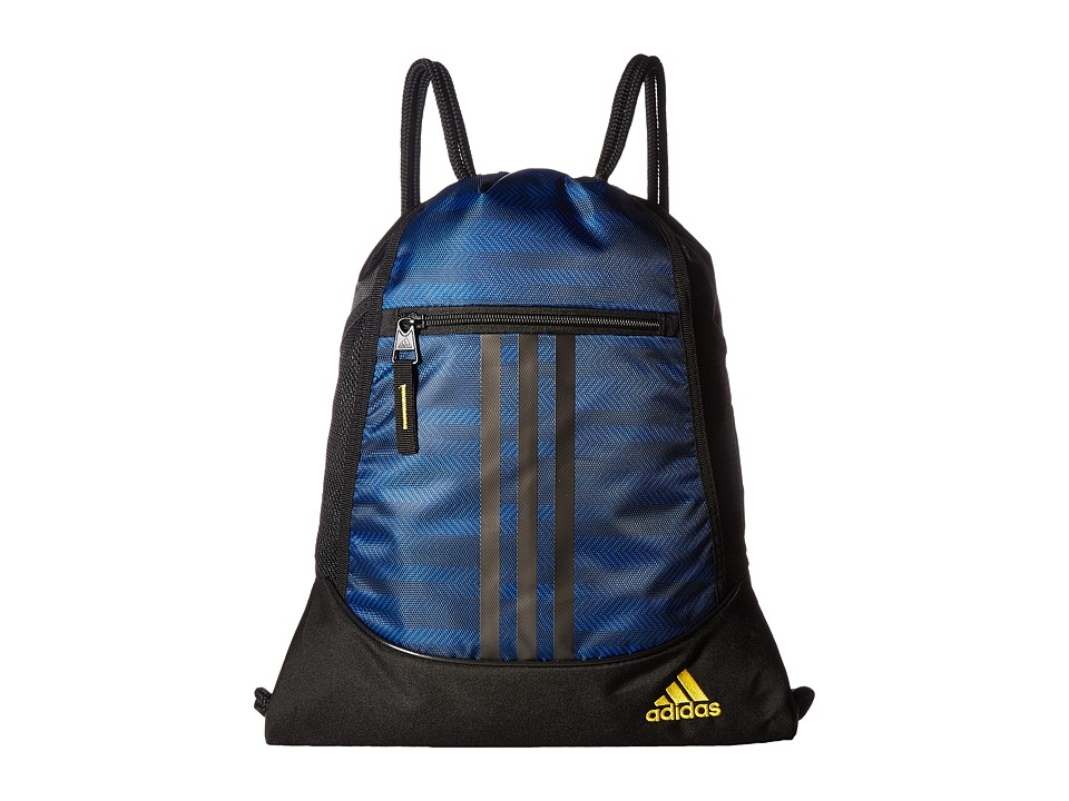 adidas - Alliance II Sackpack (Blue Ratio/Black/EQT Yellow) Bags
