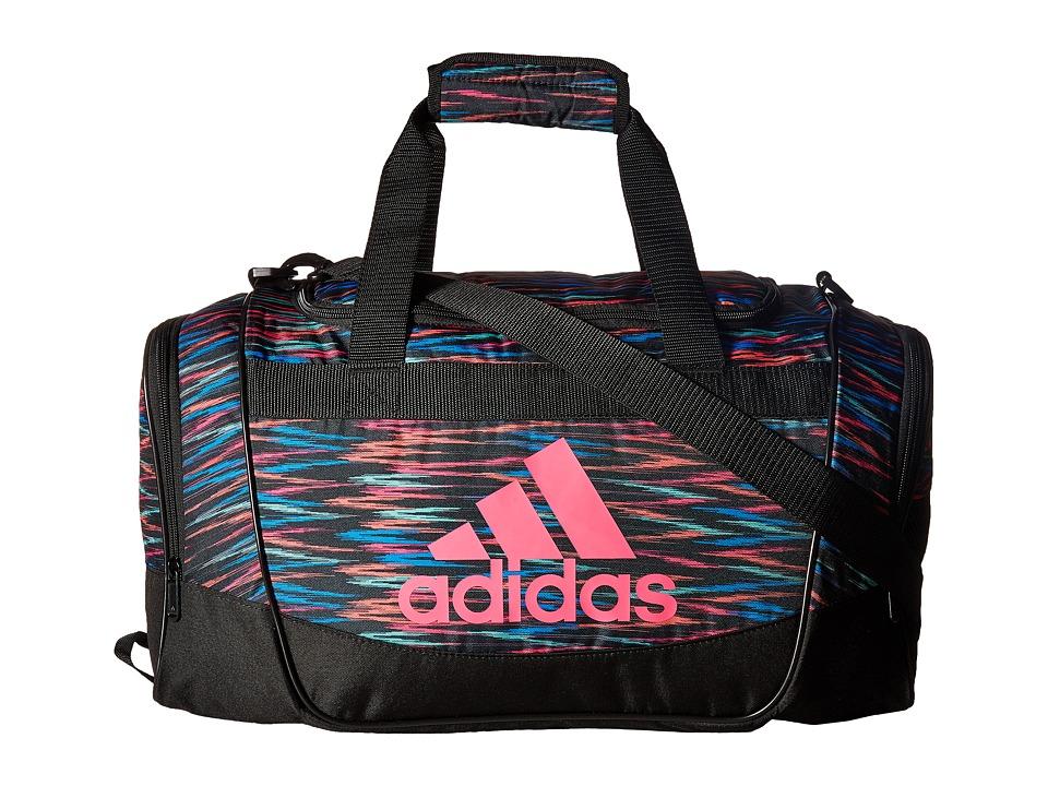 adidas - Defender II Small Duffel (Black Twister/Black/Shock Pink) Duffel Bags