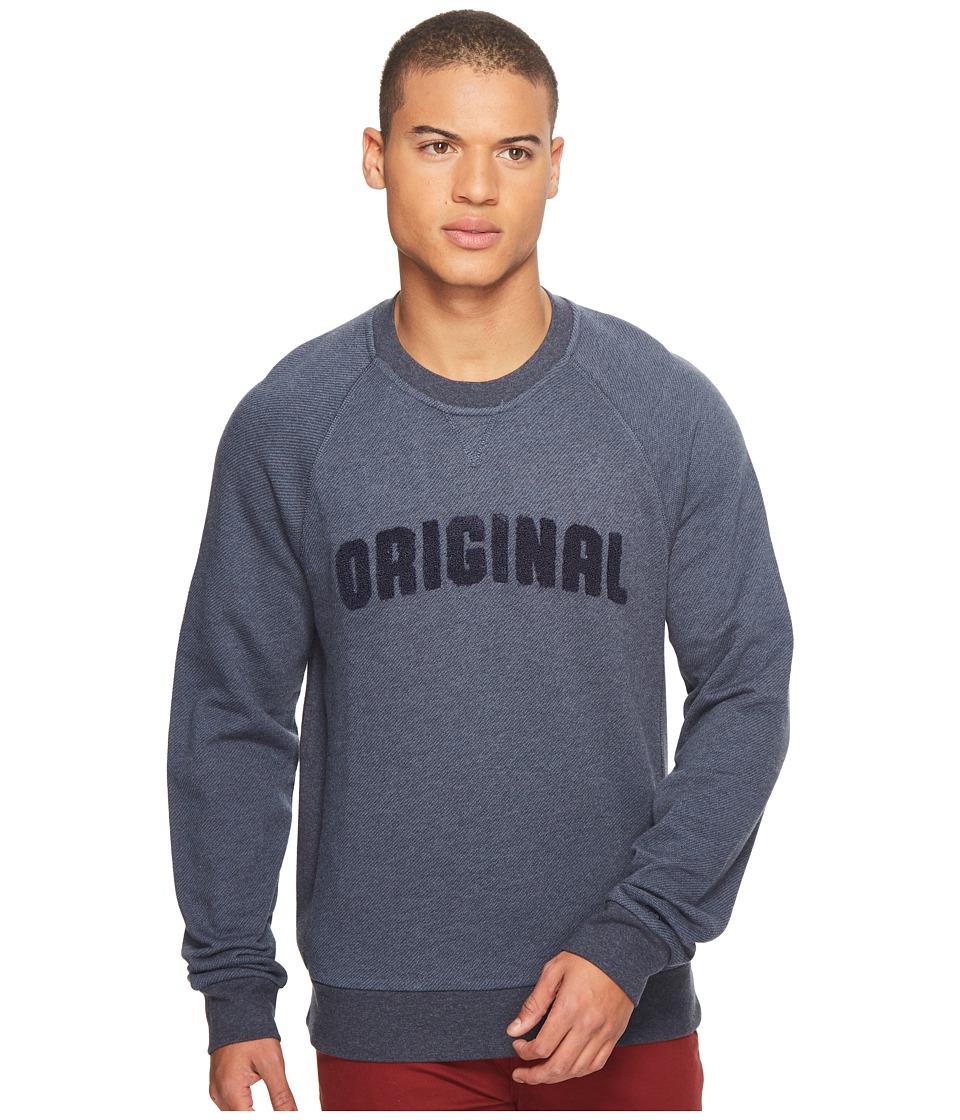 Original Penguin Vintage Gym Long Sleeve Boucle Sweatshirt (Dark Sapphire) Men