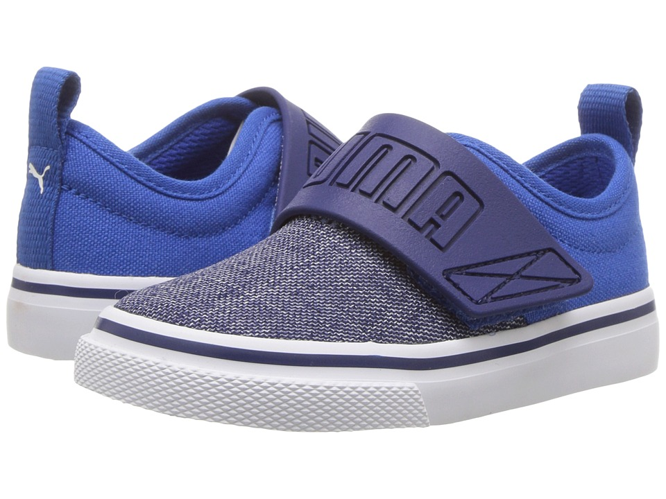 Puma Kids El Rey FUN Denim (Toddler) (Blue Depths/Lapis Blue) Kids Shoes