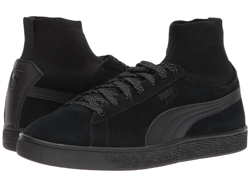 PUMA - Suede Classic Sock (Puma Black/Puma Black) Men's Shoes