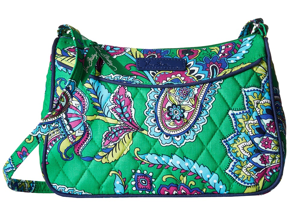 Vera Bradley - Little Crossbody (Emerald Paisley) Cross Body Handbags