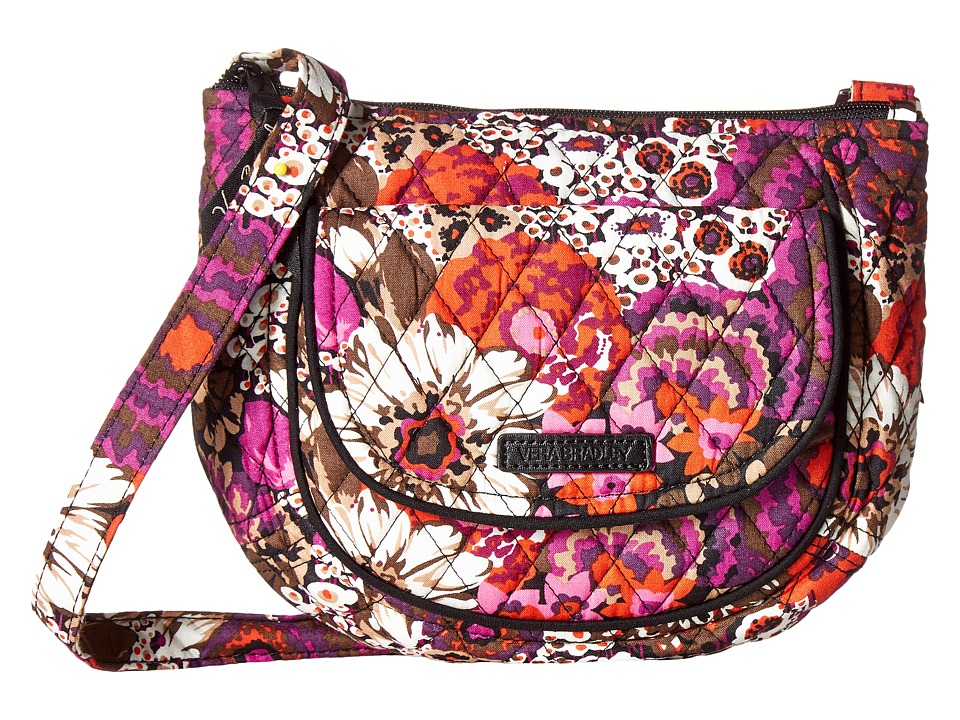 Vera Bradley - Lizzy Crossbody (Rosewood) Cross Body Handbags
