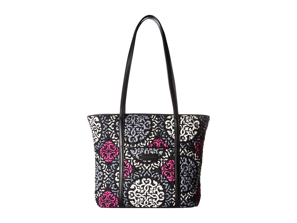 Vera Bradley - Small Trimmed Vera Tote (Canterberry Magenta) Tote Handbags