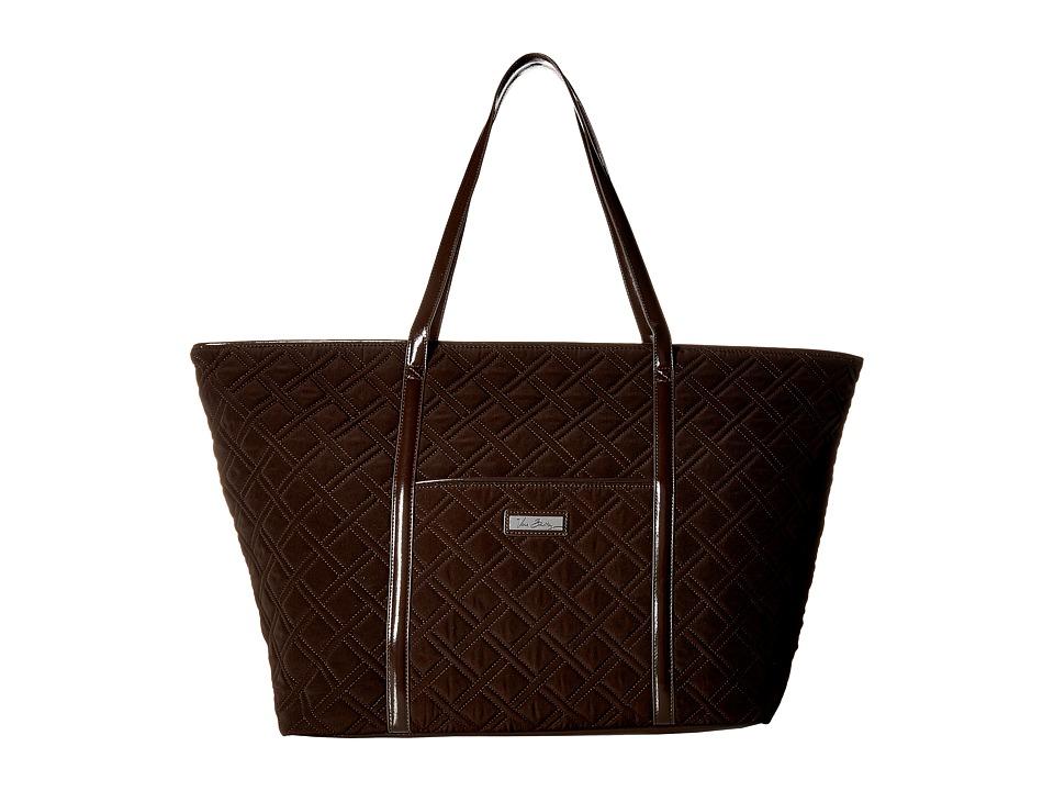 Vera Bradley - Trimmed Vera Traveler (Espresso) Bags