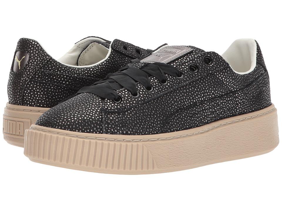 PUMA - Puma Platform Lux (Puma Black/Puma Black) Women's Shoes
