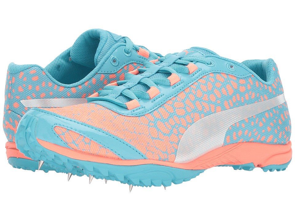 PUMA - evoSPEED Haraka 4 (Neutral Gray Turquoise/Neutral Gray Peach) Women's Shoes