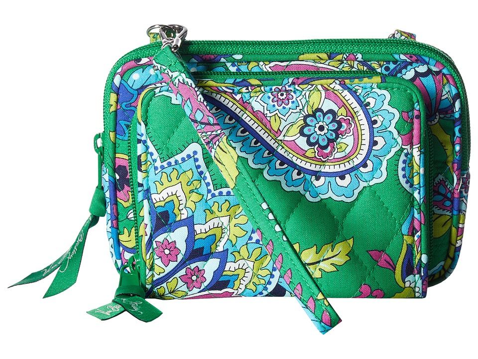 Vera Bradley - On The Square Wristlet (Emerald Paisley) Wristlet Handbags
