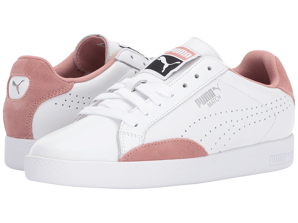 PUMA - Match Lo Classic (Puma White/Cameo Brown) Women's Shoes