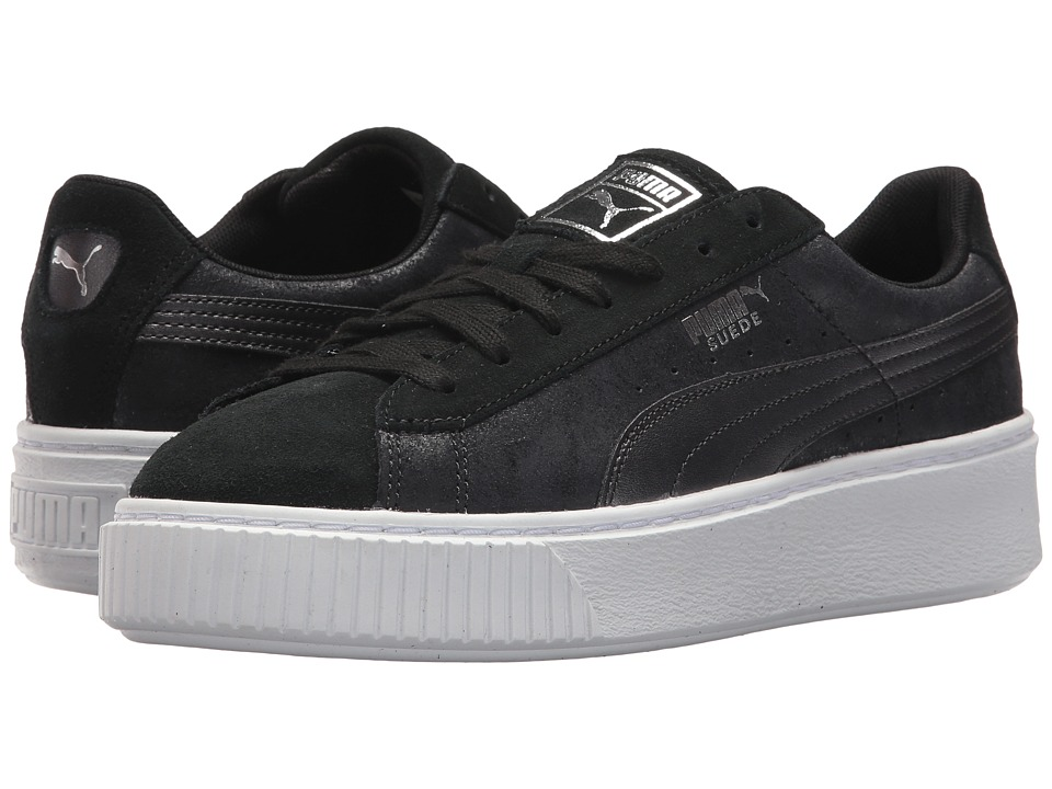 PUMA - Suede Platform Safari (Puma Black/Puma Black) Women's Shoes