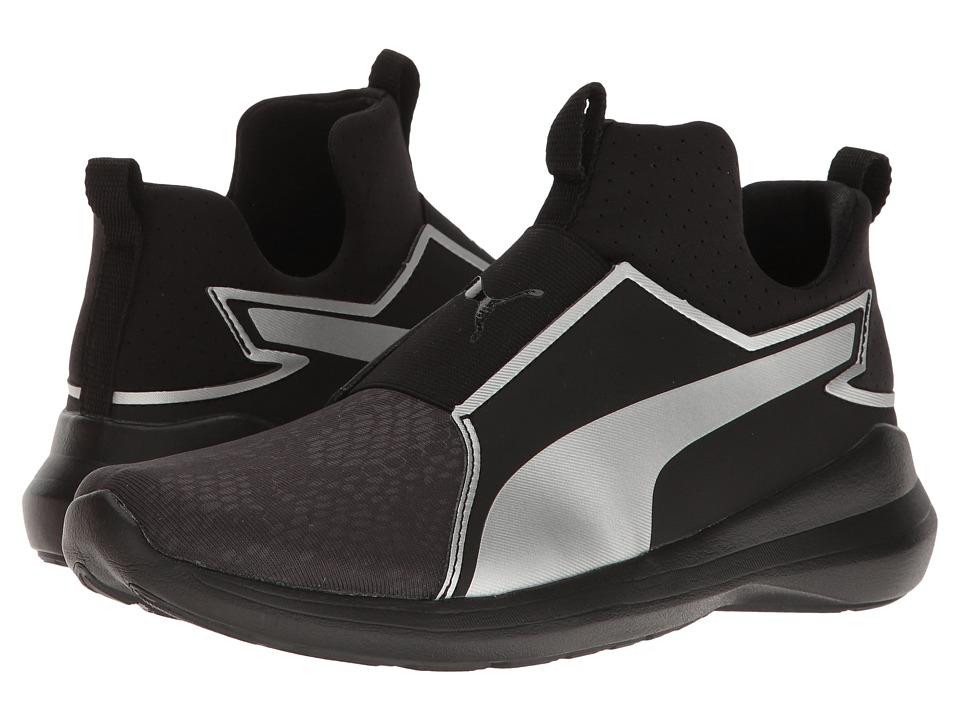PUMA - Puma Rebel Mid Summer (Puma Black/Puma Silver) Women's Shoes