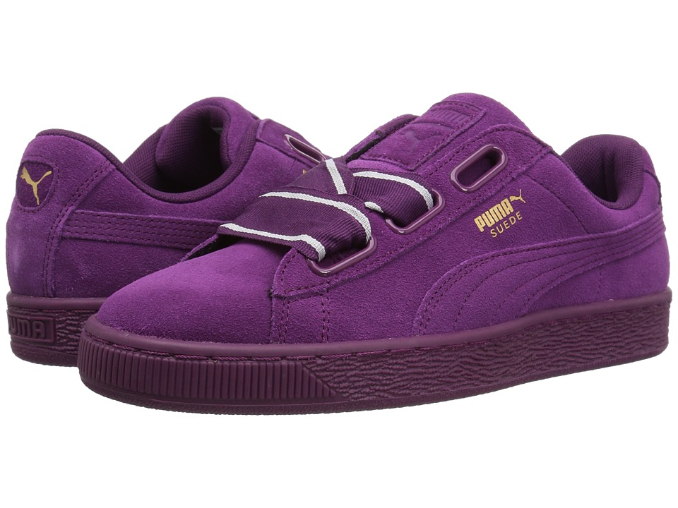 PUMA - Suede Heart Satin II (Dark Purple/Dark Purple) Women's Shoes