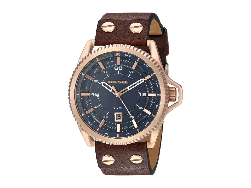 Diesel - DZ1746 (Marine/Brown/Gold) Watches