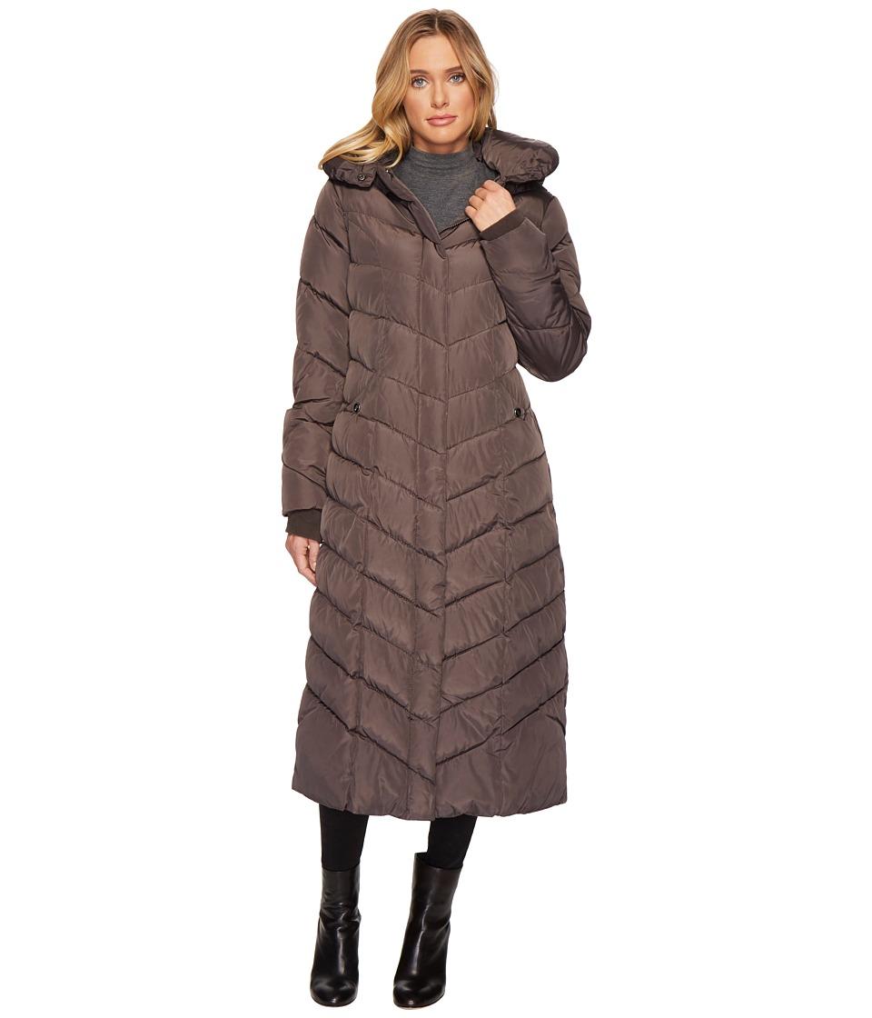 Steve Madden - Chevron Maxi Jacket (Titanium) Women's Coat
