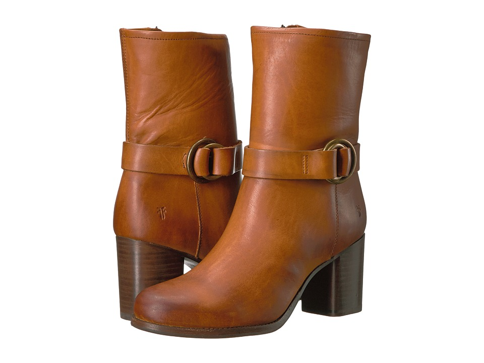 Frye - Addie Harness Mid (Brown) Women's Boots